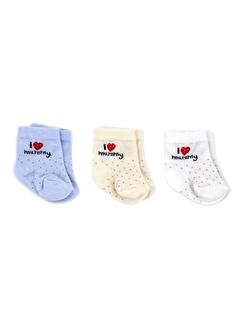 Bebengo Bebengo 3'Lü Soket Erkek Bebek Çorabı 9541